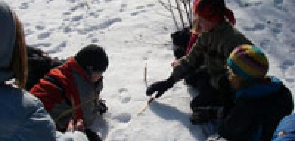 winter wilderness skills tracking children earthwork programs