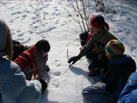 winter wilderness skills tracking children earthwork programs