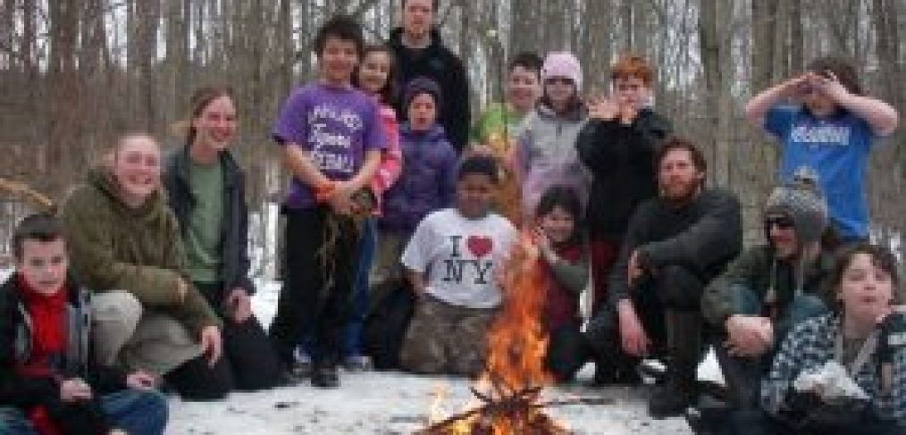 Winter fire wilderness skills earthwork programs homeschool