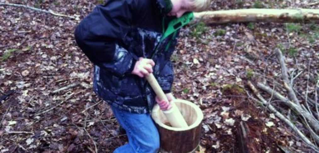 Teagan Crushing Hickory Nuts