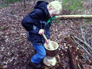 Teagan Crushing Hickory Nuts