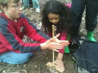 making fire bow drill