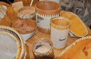 birch bark baskets