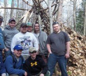 bachelor party shelter building wilderness skills